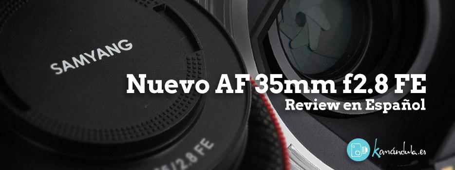 Samyang 35mm f2.8 AF para SONY