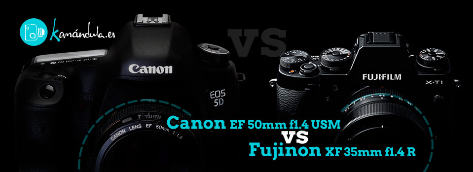 Fuji XF 35mm f1.4 vs Canon EF 50mm f1.4