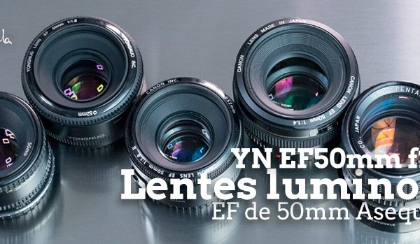 YN EF50mm f1.8 y otras 4 lentes luminosas